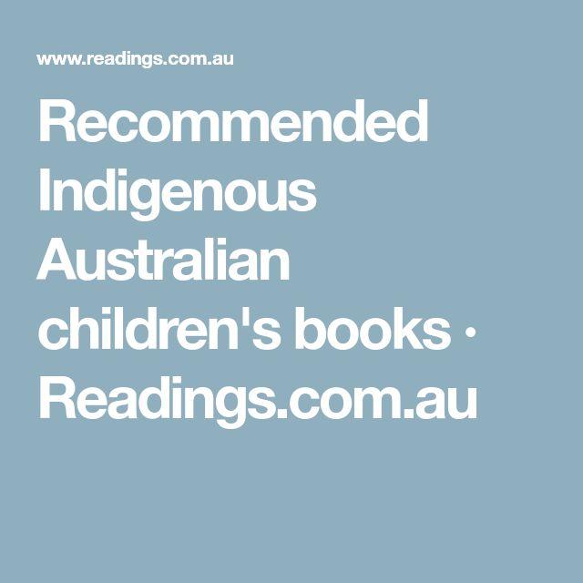 Recommended Indigenous Australian children's books · Readings.com.au
