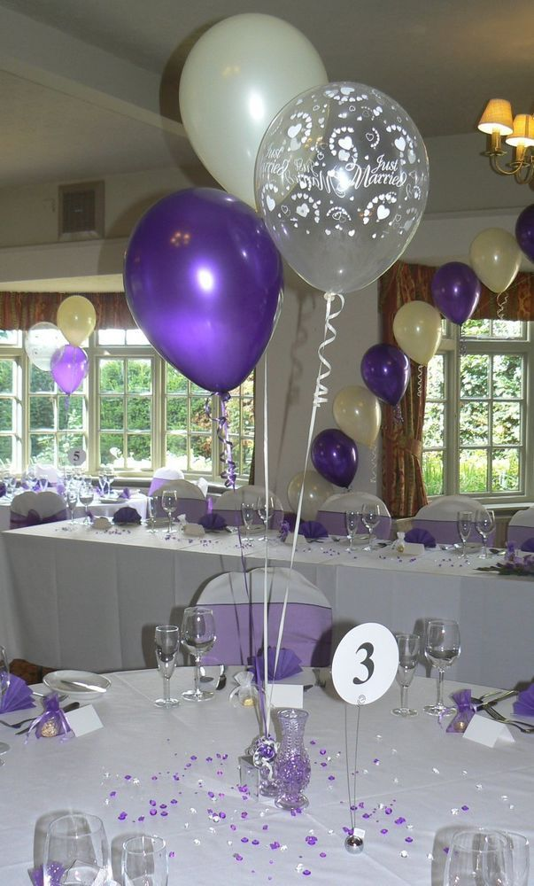 Details about Wedding Balloons - 10 Table Decorations ...