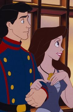 *PRINCE ERIC & VANESSA (Ursula's alter ego-reverts back to Ursula + dies when Prince Eric Stabs her) ~ THE LITTLE MERMAID II: Return to the Sea, 2000