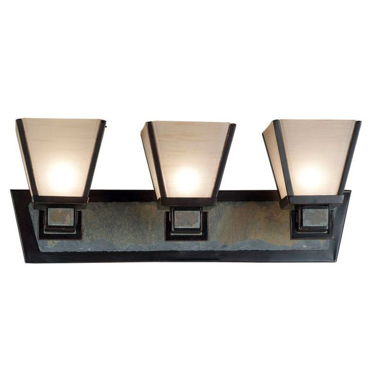 Kenroy 91603ORB Clean Slate 3 Light Vanity Light Bar   24W In. Bronze