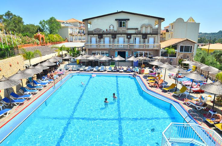 #Zakynthos: #hotel operation comprises three main #buildings extending over an area of 3800sqms and sited upon a #property of 5200sqms. It is a 3-star category operation, but its equippage and specifications are of 4-star rating.