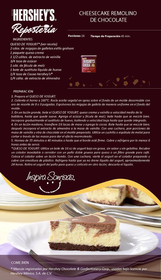 Una deliciosa receta preparada con nuestra Cocoa Hershey's®. #Hersheys #Chocolate #InspiraSonrisas #Repostería #Postres #Receta #DIY #Recetario #Delicioso