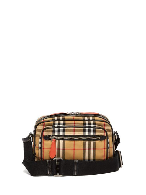 2e4b0fc5a157 BURBERRY Vintage check cross-body belt bag.  burberry  bags  leather  belt  bags  canvas  lining  cotton