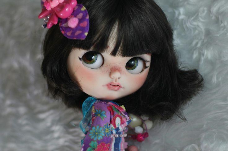 Feli by @draBlythe adopted Custom Blythe doll