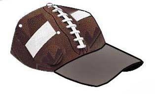 Football cap.