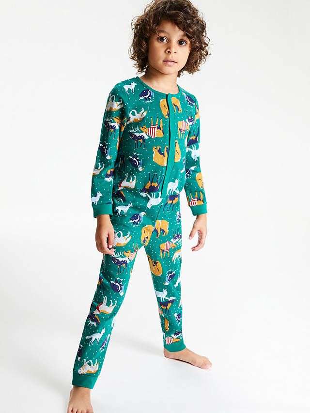 bd25c2c6d BuyJohn Lewis & Partners Boys' Arctic Animals Onesie, Green, 3 years Online  at johnlewis.com