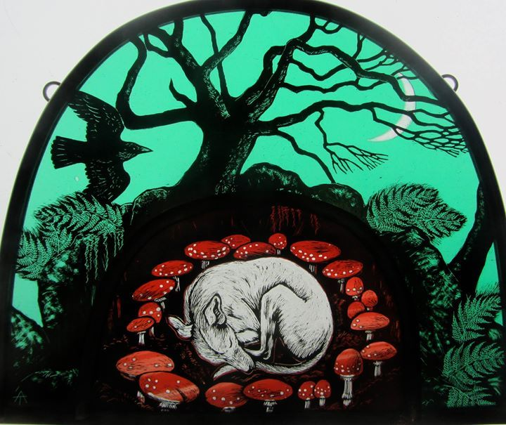 """""""Safe in the Fairy Ring"""" by stained glass artist, Tamsin Abbott"""