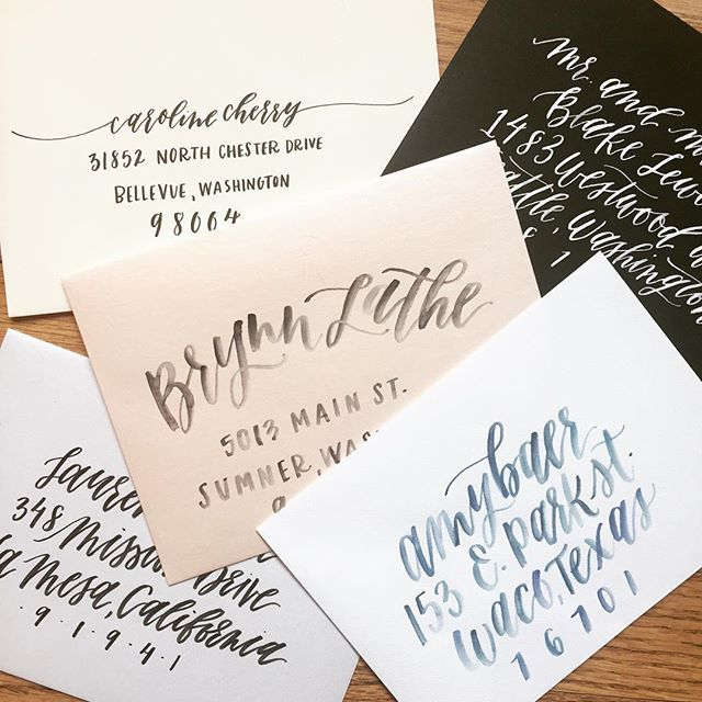 The 315 best typography images on pinterest brush lettering custom calligraphy handlettered and watercolor envelope addressing from eleven and west thecheapjerseys Gallery