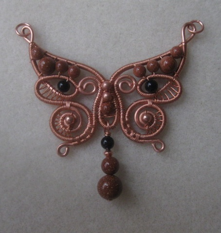 Butterfly wire pendant