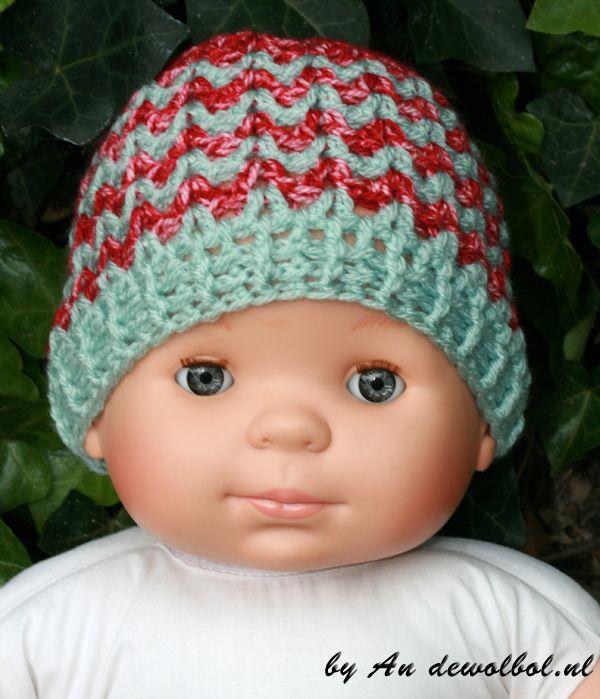 Babymutsje Leila  met gratis patroon. #scheepjeswol
