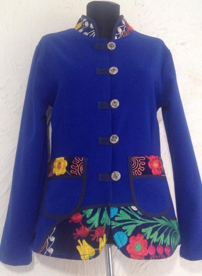 Saks blue colour short jacket..Suza