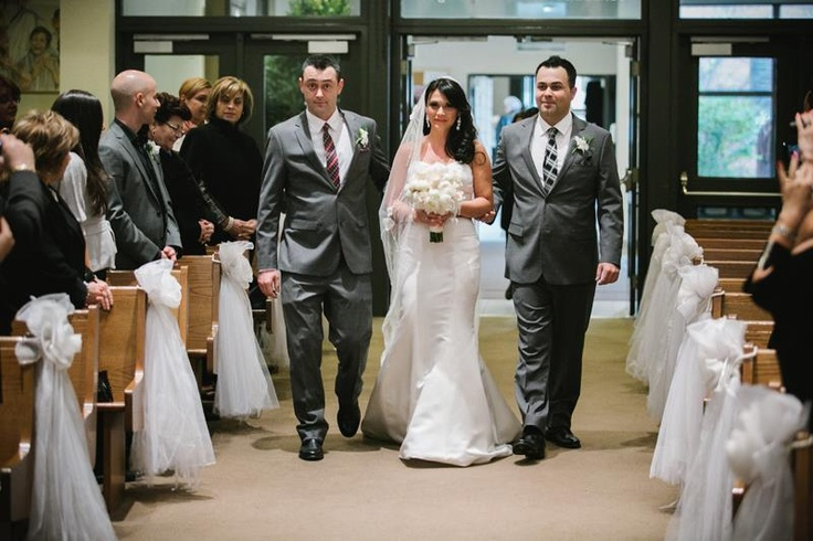 The Bride (Me) Being Walked Down the Aisle by My Brothers - My Dad Passed in 2005 My Guardian Angel Who is Watching Over Me Who Found Me My Husband.