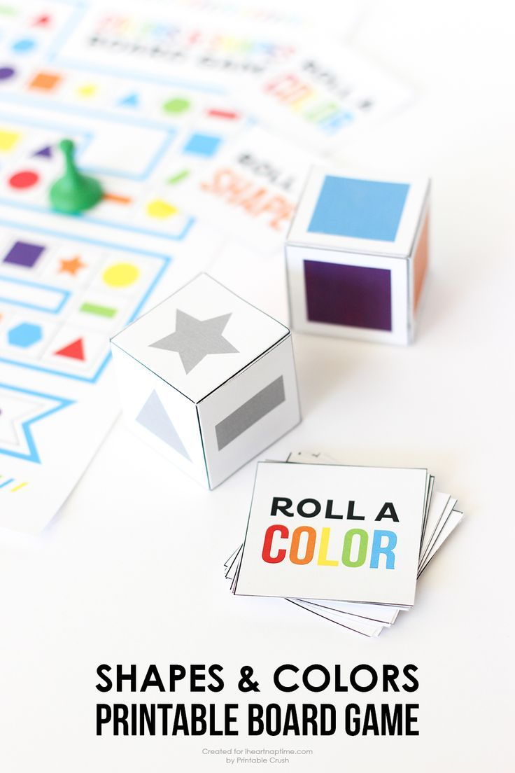 Keep your kids entertained with this Shapes and Colors Printable Board Game! It's easy to put together and fun for young children.