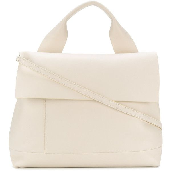 Marni City Pod tote bag ($990) ❤ liked on Polyvore featuring bags, handbags, tote bags, white, tote purses, white tote, handbags totes, tote handbags and marni tote