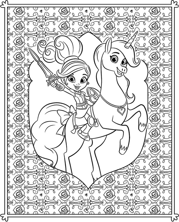 Nella Princess Knight Coloring Sheets For Kids