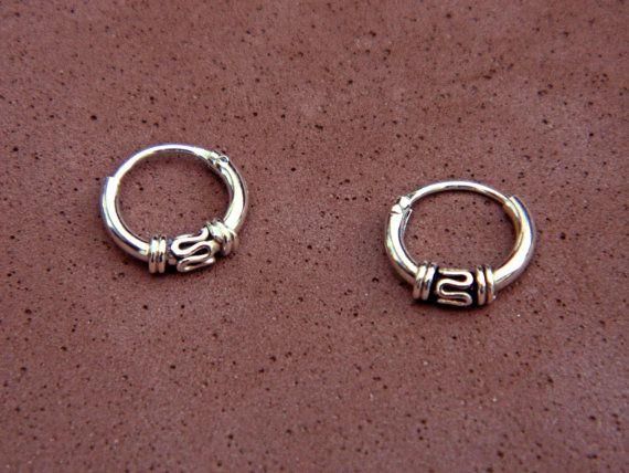 15X10 mm Sterling Silver Hoop Earrings  Silver Hoop Earrings