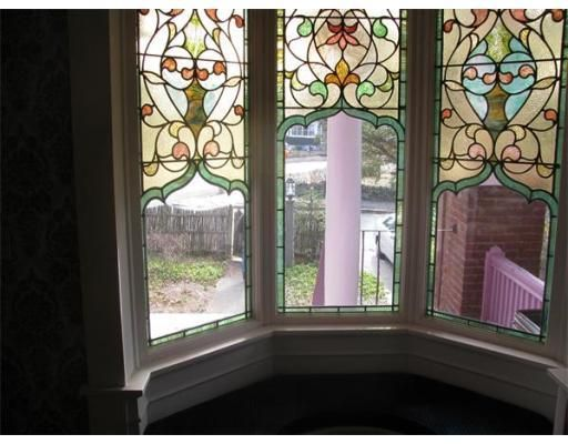 Victorian Stained Gl Bay Window