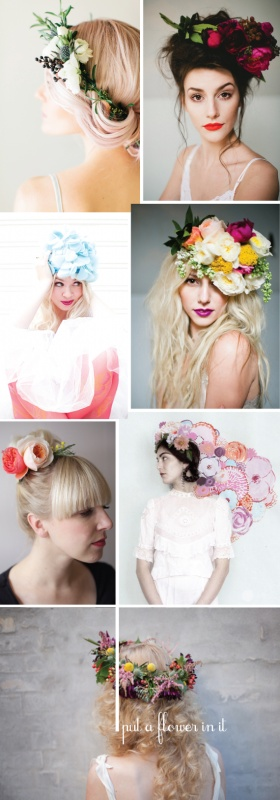 Real flower hair pieces DIY!