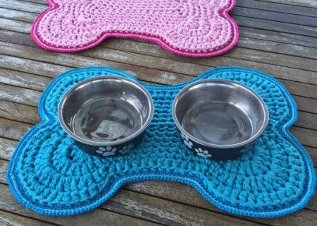 Crochet Dog Bowl Mat Free Pattern