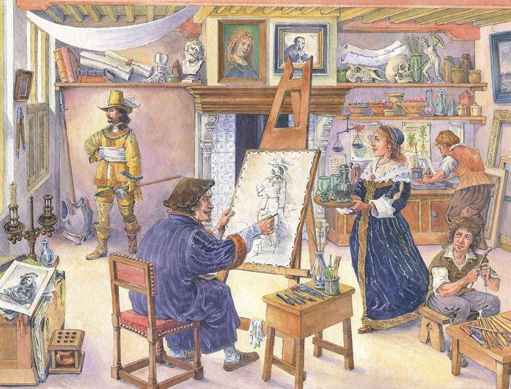 De gouden eeuw: Vensterplaat Rembrandt | entoen.nu