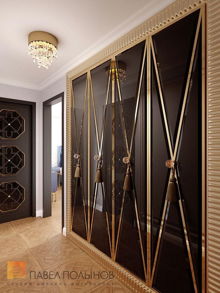 Фото дизайн холла из проекта «Дизайн квартиры в стиле парадной неоклассики с элементами арт-деко, элитный жилой комплекс «Привилегия», 250»