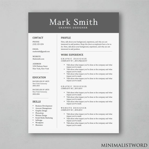 91 best Resume Templates images on Pinterest Resume templates - microsoft word resume template download