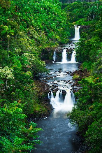 Umauma Falls, Hawaii  #Waterfalls #BeautifulNature #NaturePhotography #Nature #Photography #Travel #Hawaii
