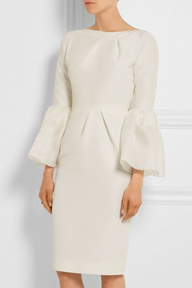 Roksanda - Margot Cotton And Silk-blend Dress - Ivory - UK