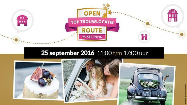 Op 25 september a.s. is de volgende Open Toptrouwlocatie Route! Dé kans om een kijkje te nemen @ Meijer aan Zee!  http://bit.ly/29SFIGj