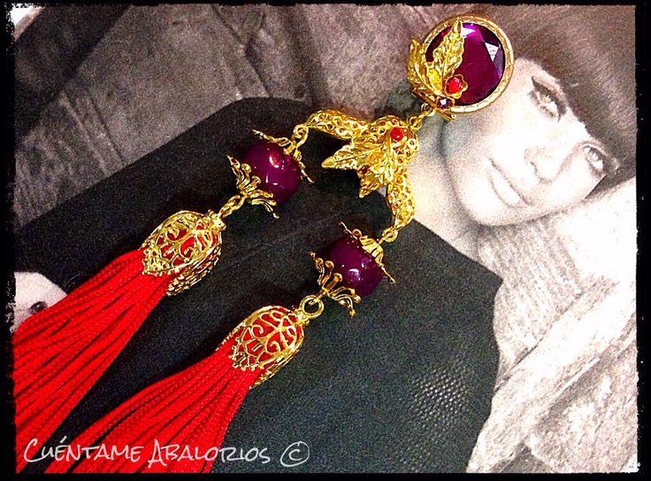 """Complementos flamencos para la nueva colección 2015 de Cuéntame Abalorios """"Las noches de Sidi Bou Said"""" abalorioscuentame.blogspot.com"""
