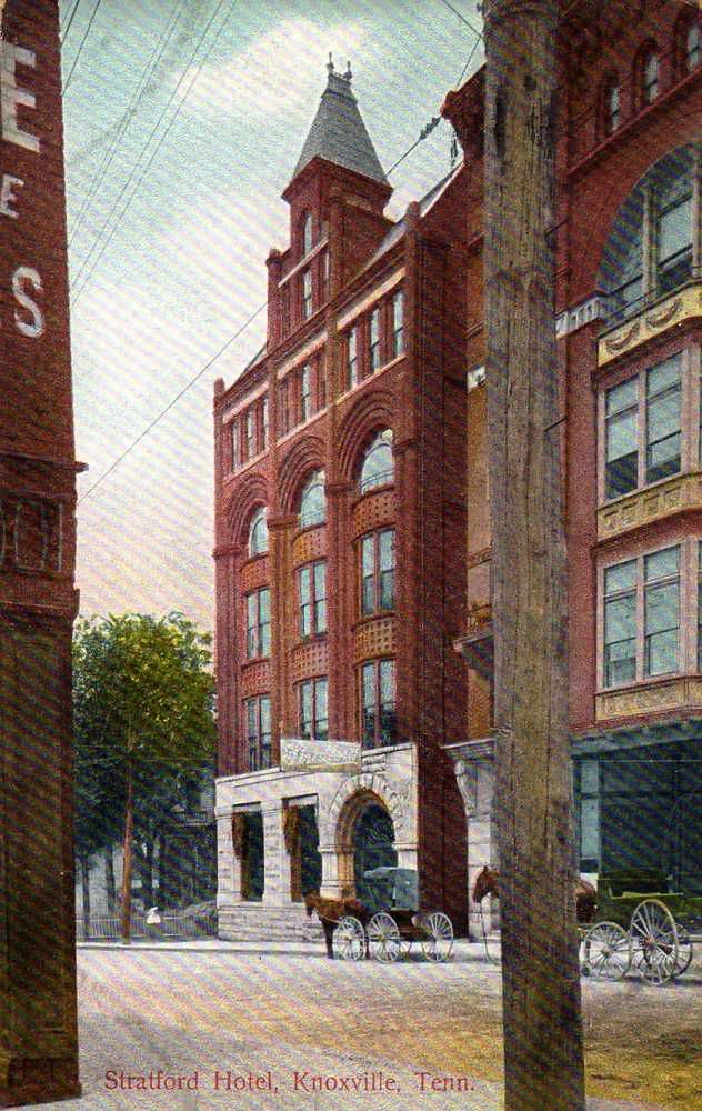1908 Posted Postcard, the Stratford Hotel at 409 Wall Avenue
