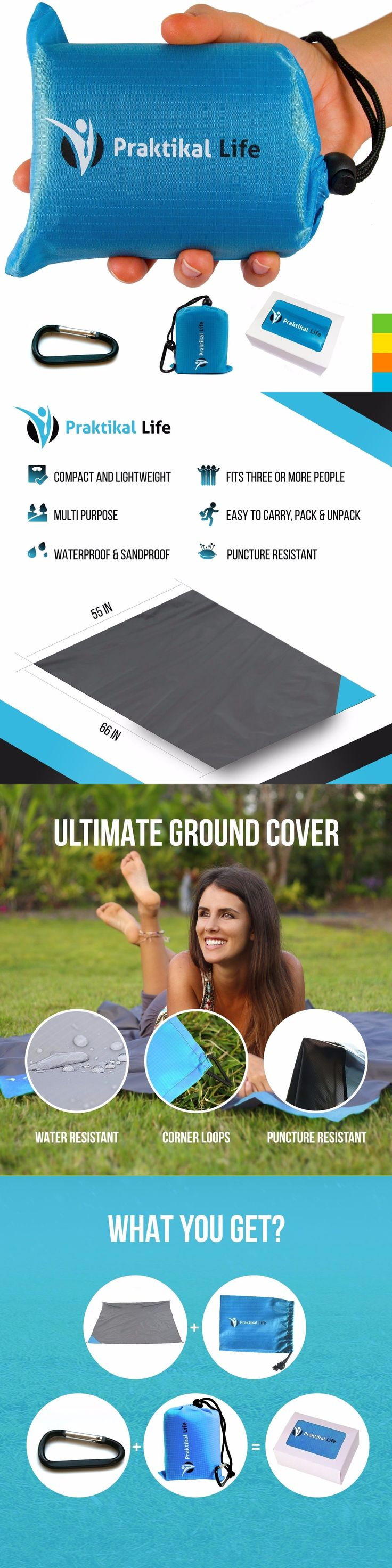 Blankets and Liners 111261: Beach Blanket Sand Proof Picnic Large Throw Outdoor Waterproof Handy Compact New -> BUY IT NOW ONLY: $32.25 on eBay!