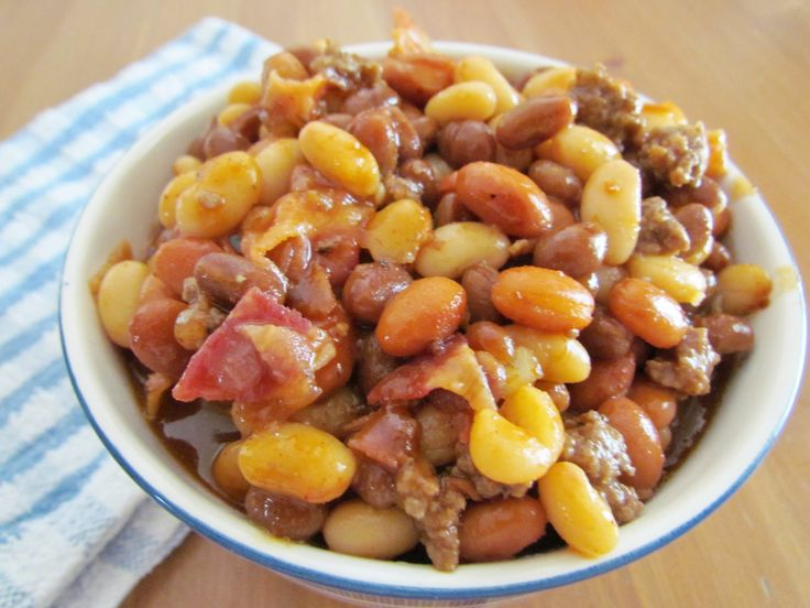 Calico Baked Beans is a baked bean dish with a variety of beans along with ground beef cooked in a delicious sauce. Great for a crowd!