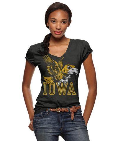 Iowa hawkeyes v neck t shirt iowa hawkeyes pinterest for Iowa hawkeye t shirt