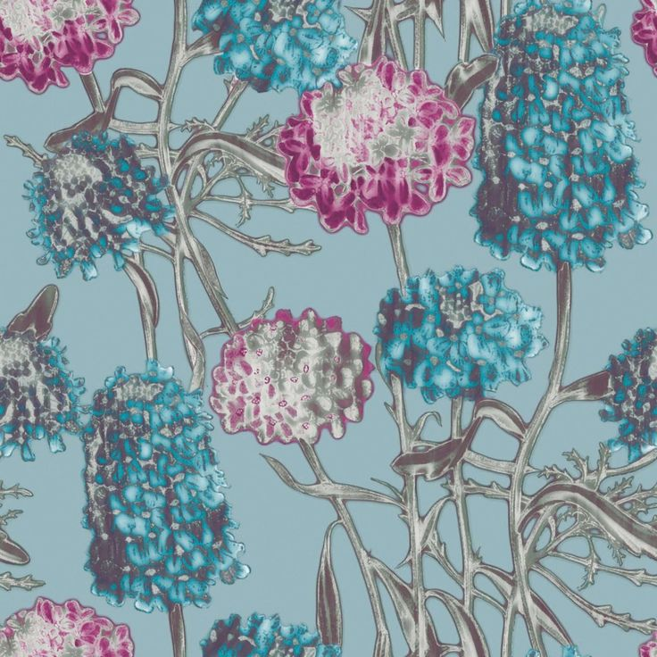 Tempaper Removable Wallpaper In Hydrangea Blush Is A Retro Free Floating Interpretation Of Traditional