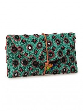 VIDA Leather Statement Clutch - Sweet Party Clutch by VIDA