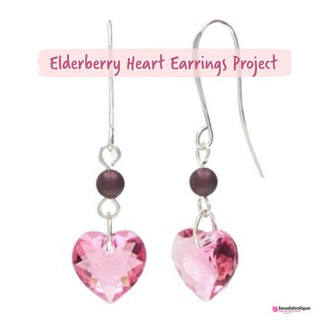 Heart pendant and bead earrings