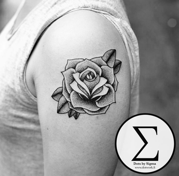 She picked this rose straight from my sketchbook. Not every tattoo have to be specially designed just for you to look cool.  Check out my Instagram @dotsbysigma