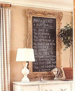 JJ!!! We need this!!! Chalkboard with football schedule. Except we'll need to come up with a team we agree on.... :)