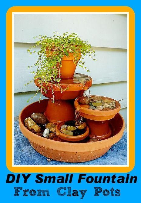 DIY Saturday:  DIY Small Fountain From Clay Pots