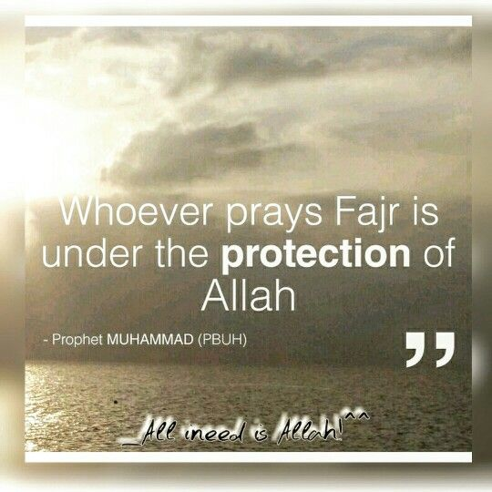 ",Bismillahi Rahmani Rahem!  〰>Jundub bin Sufyan (R.A) reported: Prophet Mohammad(P.b.u.h)said,  ""He who offers the dawn (Fajr) prayers will come under the Protection of Allah. O son of Adam! Beware, lest Allah should call you to account in any respect from (for withdrawing) His Protection.'' [Muslim]   He who The observes Al-Bardan (i.e., Fajr and 'Asr prayers) will enter Jannah. [Al-Bukhari Wa Muslim]  SUBHAANALLAAH!   #Day23__"