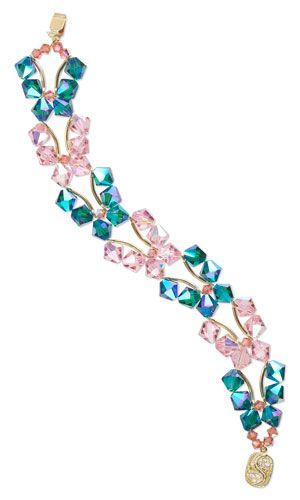 Butterfly Double-Strand Bracelet with SWAROVSKI ELEMENTS - Fire Mountain Gems and Beads