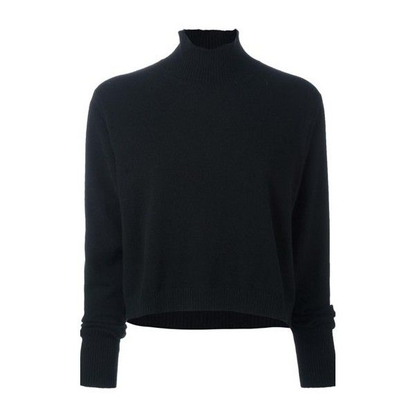 LE KASHA Cashmere Roll- Neck Jumper ($649) ❤ liked on Polyvore featuring tops, sweaters, black, cashmere jumpers, jumpers sweaters, roll neck top, pure cashmere sweaters and wool cashmere sweater