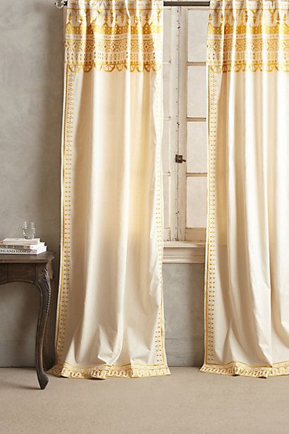 Embroidered Aravalli Curtain #anthropologie $148-168 each in either gold or grey