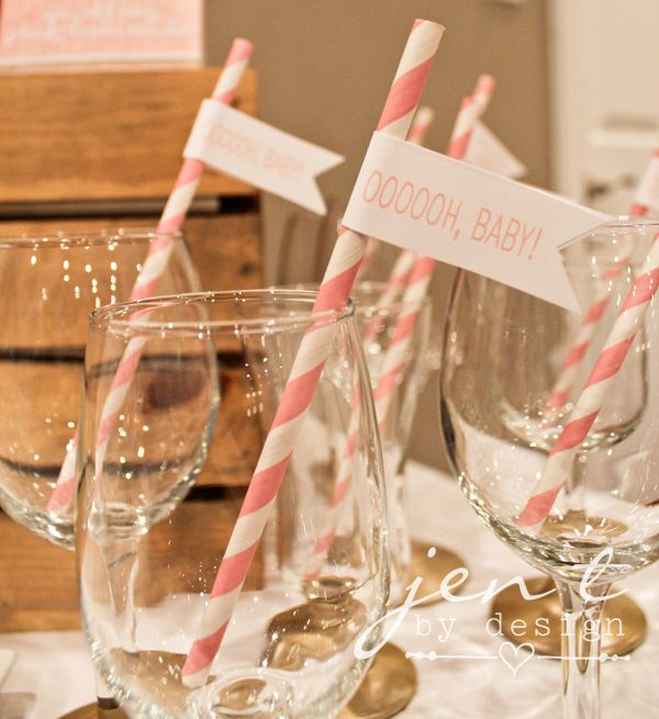 Just Born Sparkle inspiration: Pink and Gold Sparkle Baby Shower