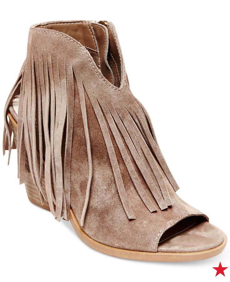 How cute would these Steve Madden fringe booties look on the festival  grounds? Pair with