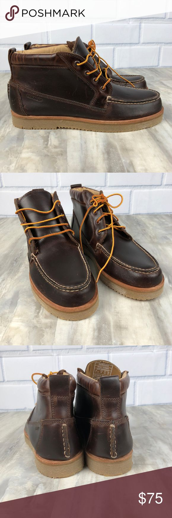 Sebago Mens Leather Chukka Boots New without box Sebago Chukka Boots Retail $160 Size 9M Nonsmoking home May have some marks from being stored without the box - please see all the photos Leather Lace up Sebago Shoes Chukka Boots