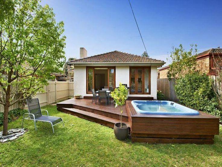 17 best jardines de casas peque as images on pinterest for Casas sencillas pero bonitas
