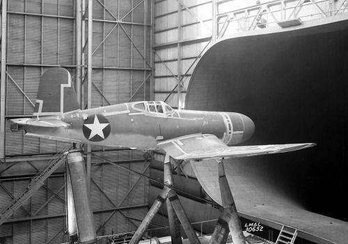 Wind tunnel testing of a Vought F4U Corsair