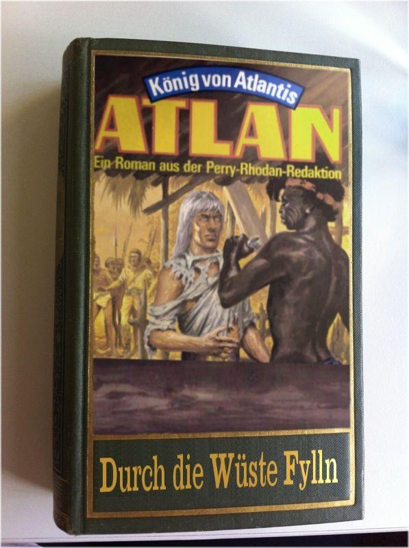 """Der verstorbene Werner Fleischer träumte bekanntlich von den """"Grünbänden"""": einer Buchausgabe des Atlantis-Zyklus aus der ATLAN-Serie, die idealerweise beim Karl-May-Verlag erscheinen sollte. An einem 1. April hängte ich darum auf dem offiziellen Perry-Rhodan-Forum das abgebildete Photoshop-Desaster aus.  An diesem Tag erhielt der Karl-May-Verlag mehrere Zuschriften von Kunden, die das Buch bestellen wollten."""